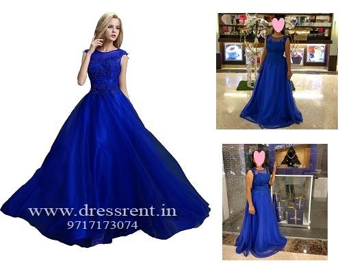 G93, Royal Blue Gown (Sleeves available), Size (XS-30 to L-36)