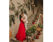 Load image into Gallery viewer, G127 (4) , Wine Prom Prewedding Shoot Trail Gown, Size (XS-30 to XL-40)