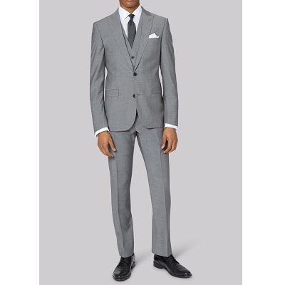 Grey Formal Blazer with Grey Trouser, Size (38 to 42)