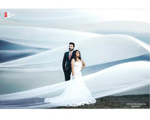 Load image into Gallery viewer, W159, White Mermaid Sweet Heart Prewedding Shoot Trail Gown, Size (XS-30 toL-38)