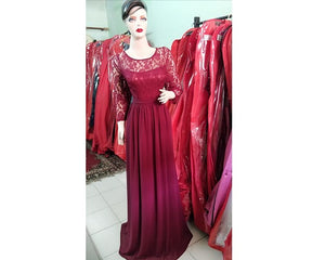 G119, Wine Color Aline Maternity Shoot Gown,  Size (XS-30 to XXL-42)