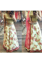 Load image into Gallery viewer, Floral Lehenga, Size (XS-30 to XL-40), L34