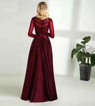Load image into Gallery viewer, G92, Dark Wine Satin Ball Gown, Size (XS-30 to XXL-44)