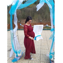 Load image into Gallery viewer, G119, Wine Maternity Shoot Baby Shower Gown,  Size (XS-30 to XXL-42)