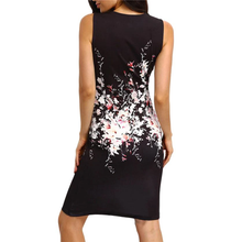 Load image into Gallery viewer, Sleeveless Floral Print Knee Length Party Dress,Size (XS-30 to L-38)