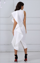 Load image into Gallery viewer, White Sleeveless Club Party dress,Size (XS-30 to L-38)