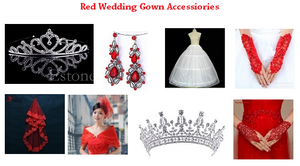 G160 Red Bottom Lace Ball Gown, Size (XS-30 to XXXL-44)