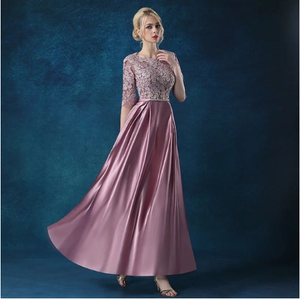 G82, A-Line Half Sleeve Prom Evening Gown, Size (XS-30 to L-38)