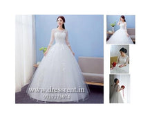Load image into Gallery viewer, W165, White Sleeves-Lace Ball Gown, Size (XS-30 to L-38)