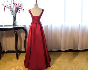 G801, Wine Satin Off Shoulder Lace maternity Shoot Trail Ball Gown, Size upto XL-40, A40