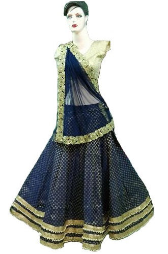 Brocade Dots Lehenga, Size (XS-30 to XL-40), L20