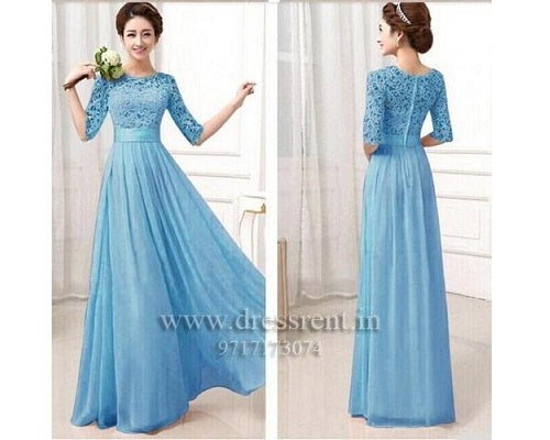 Sky Blue Gown, Size (XS-30 to XXL-42)