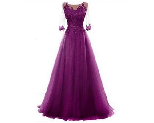 Dark Purple Gown, XXL-42 to XXXL-46