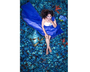 G166, Blue Ball Gown, Size (XS-30 toL-38)