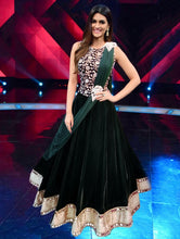 Load image into Gallery viewer, Bottle green croptop with Lehenga (Kriti Sanon) ,size,(38-42), L6