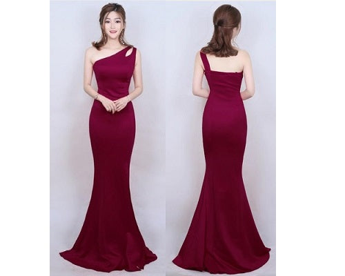 One Shoulder Party Gown, Size (XS-30 to L-36), G76,