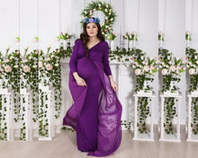 Load image into Gallery viewer, G41,(4) Purple Trail Gown, Size (XS-30 to XXL-44), Booking Status - Available