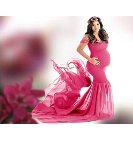 G256 Baby Pink Twin Trail Gown, Size (XS-30 to XXL-44)