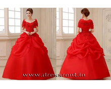 Load image into Gallery viewer, G142, Red Hood Ball Gown, Size (XS-30 to L-36)