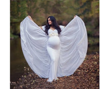 Load image into Gallery viewer, G152 (2), White Maternity Shoot Trail Baby Shower Gown, Size (XS-30 to L-38)