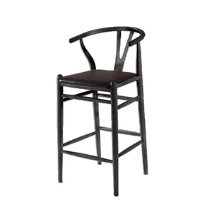 Nou Woodstring Bar Stool Chair, Black