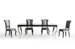 "30"" Black Lacquer MDF Dining Table"