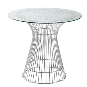 "Antonette Libo Dining Table 42"", Clear"