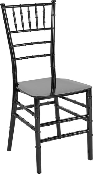 Dru Black Resin Stacking Chiavari