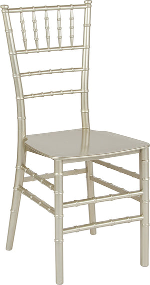 Manpreet Champagne Resin Stacking Chiavari Chair