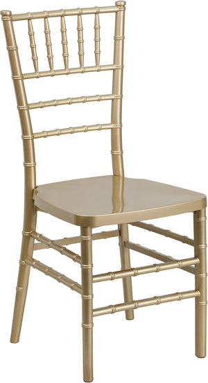 Andreas Gold Resin Stacking Chiavari Chair