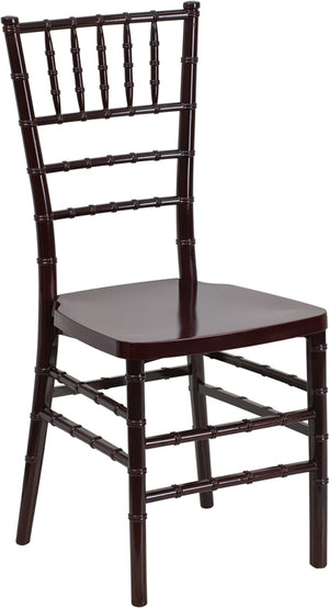 Gabriele Mahogany Resin Stacking Chiavari Chair