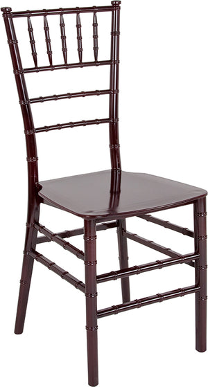Kajus Mahogany Resin Stacking Chiavari Chair