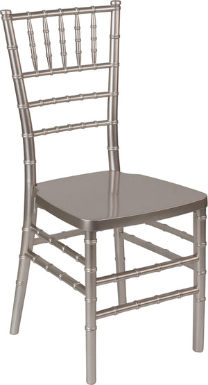 Mikhail Pewter Resin Stacking Chiavari Chair
