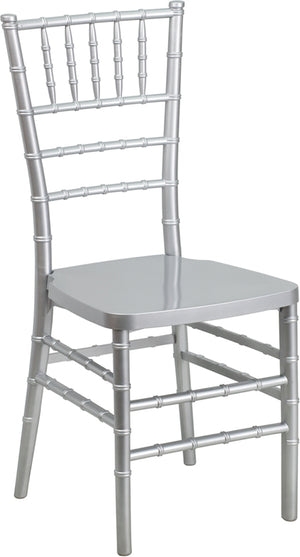 Hasan Silver Resin Stacking Chiavari Chair