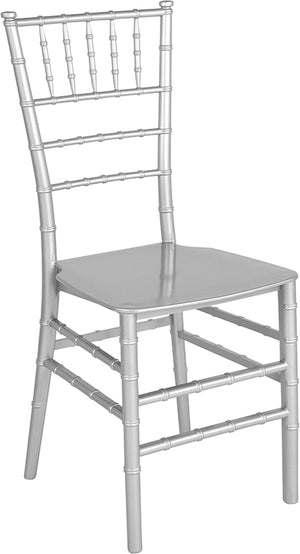 Raul Silver Resin Stacking Chiavari Chair
