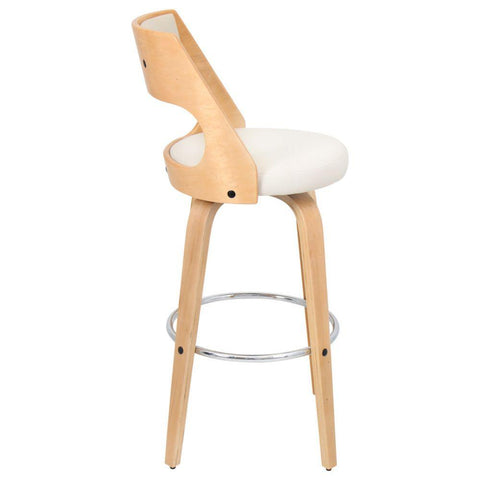 Lumisource Cecina Barstool, Natural and Cream