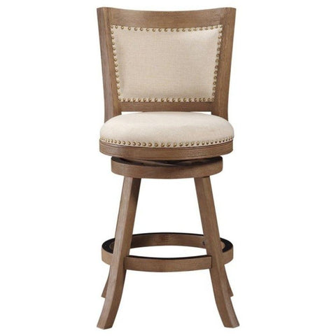 Melrose Swivel Stool, Driftwood, Counter Height