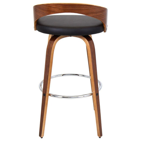 Lumisource Grotto Barstool, Walnut and Brown