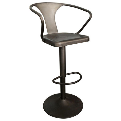 Adjustable Hydraulic Gunmetal Stool
