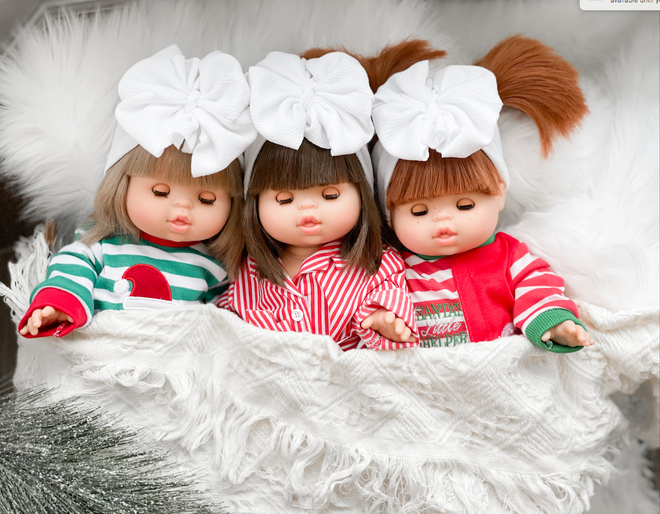 Doll Bows + Hats