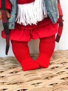Red Boho Tights - Doll