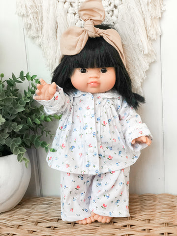 Floral Pajama Set - Doll