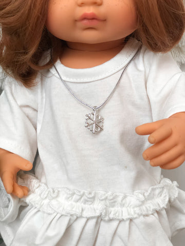 Snowflake Necklace- Doll