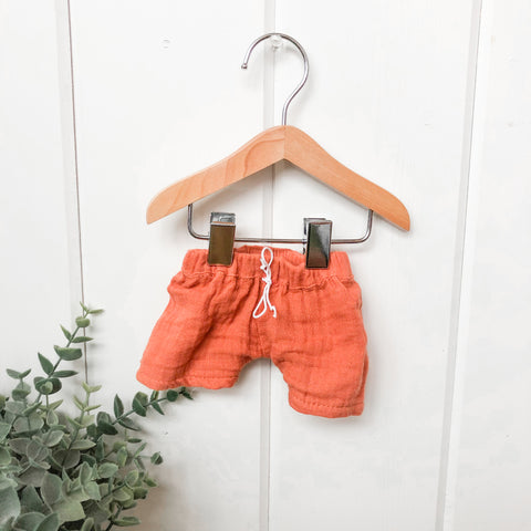 Terra Cotta Gauze Shorts - Doll