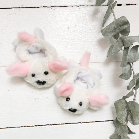 Pink Puppy Slippers- DOLL