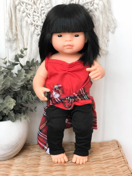 Christmas Plaid Shirt - Doll