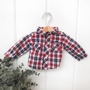 Red, White + Black Plaid Shirt - DOLL