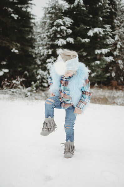 Fur Vest- Ice Queen