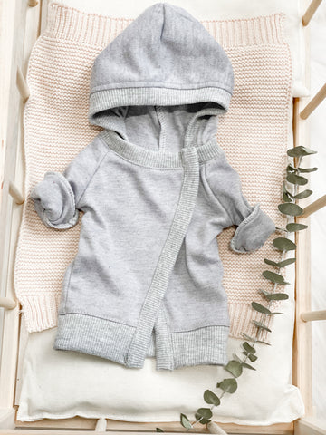 Grey Hooded Dress - Doll