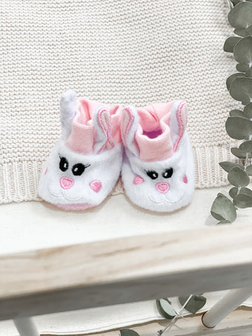 Pink Bunny Slippers- Doll